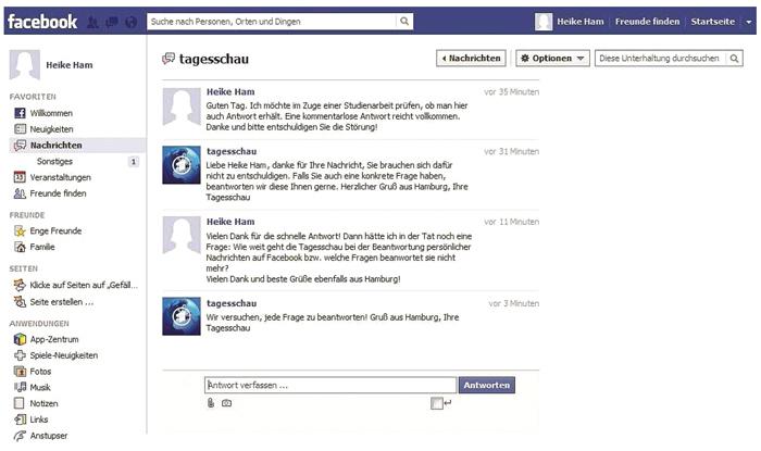 Tagesschau Facebook Korrespondenz