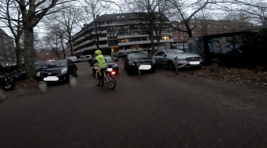 Radverkehrsführung Großheidesteg-Großheidestraße